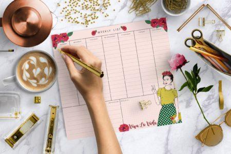 לוח תכנון שבועי פרידה קאלו