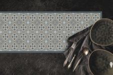 ראנר ויניל מבודד לשולחן דגם רומא אפור