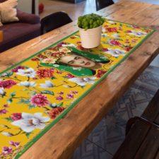 ראנר ויניל מבודד לשולחן פרידה צהוב