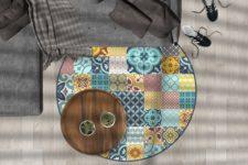 שטיח ויניל עגול מהדגמים הקיימים באתר