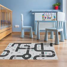 """שטיח ויניל מעוצב - גודל 70/120 ס""""מ דגם מבוך"""