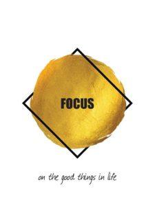 FOCUS & LET GO- זוג פוסטרים