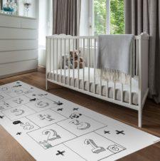 """שטיח ויניל מעוצב - גודל 70/180 ס""""מ דגם קלאס"""