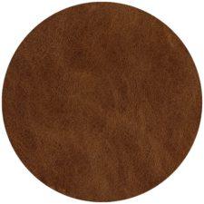 פלייסמט עגול מעוצב עמיד בחום - דגם Brown leather
