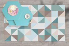 שטיח ויניל מעוצב - דגם Calm sea