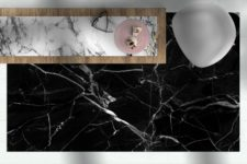 Black Marble - שטיח ויניל מעוצב