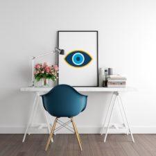 הדפס מעוצב Blue eye 02