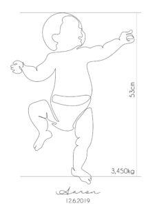 פוסטר למיסגור - Baby Real Size