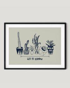 פוסטר למיסגור - Let it grow