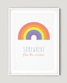 פוסטר למיסגור - Colourful rainbow