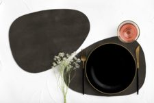 חדש! פלייסמט צורני מעוצב עמיד בחום - דגם Dark Brown