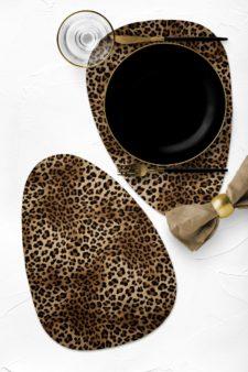 חדש! פלייסמט צורני מעוצב עמיד בחום - דגם Leopard