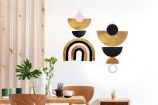 Wall Jewellery - Blush Gold Rainbow