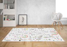 """שטיח ויניל מעוצב - גודל 120/180 ס""""מ דגם Unicorn Play"""