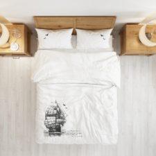 סט מצעים במבוק - Ship מיטה זוגית 160