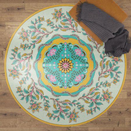 שטיח ויניל מעוצב עגול דגם ROMI